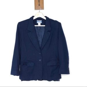 Pendleton vintage Navy blue virgin wool blazer